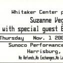 November 1, 2000  Suzanne Vega  Whitaker Center  Harrisburg, PA