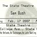 February 17, 2007  Sam Bush State Theatre, State College, PA