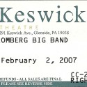 February 2, 2007  David Bromberg Big Band Keswick Theatre Glenside, PA
