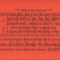 August 24, 2007  Gettysburg Bluegrass Festival Granite Hill Campground