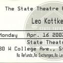 April 16, 2007  Leo Kottke State Theatre State College, PA
