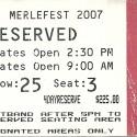 April 26-29, 2007  Merlefest Wilkes Community College