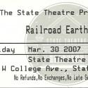 March 30, 2007  Railroad Earth State Theatre State College, PA
