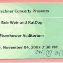 November 4, 2007  Bob Weir & Ratdog Eisenhower Auditorium
