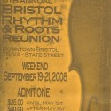 September 19-21, 2008  Bristol Rhythm & Roots Reunion Downtown Bristol TN-VA