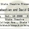 October 10, 2008  David Grisman & John Sebastian State Theatre State College, PA