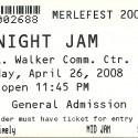 April 26, 2008  Merlefest Midnight Jam Walker Center Wilkes Community College