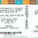 February 28, 2010  David Bromberg Yorktowne Hotel York, PA
