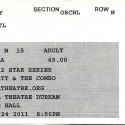 October 24, 2011  John Hiatt & The Combo Carolina Theater Durham, NC