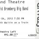 May 4, 2012  David Bromberg Big Band Strand Theatre York, PA