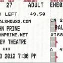 March 3, 2012  John Prine Hershey Theater