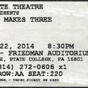 April 22, 2014  Devil Makes Three  State Theatre   State College, PA