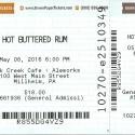 May 8, 2016     Hot Buttered Rum    Elk Creek Brewery     Milheim, PA
