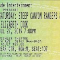 July 27, 2019   Altoona Frontier Festival  Steep Canyon Rangers & Elizabeth Cook   Mischler Theatre, Altoona, PA