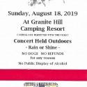 Oct. 29, 2019   Gettysburg Bluegrass Festival  Granite Hill Campground