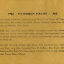 1962 Pittsburgh Pirates Roster