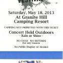 May 18, 2013 Gettysburg Bluegrass Festival Granite Hill Campground Gettysburg, PA