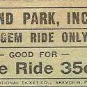 Bland Park, Inc Ride Ticket