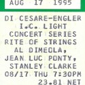 August 17, 1995 Al Dimeola, Jean Luc Ponty & Stanley Clarke