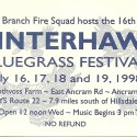 July 16-19, 1998  Winterhawk Bluegrass Festival Rothvoss Farm Ancramdale, NY