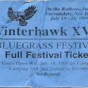 July 15-18, 1999   Winterhawk Bluegrass Festival Rothvoss Farm  Ancramdale, NY