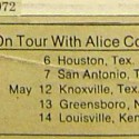 Alice Cooper Tour Schedule