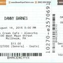 August 14, 2016  Danny Barnes with Joe Walsh and Grant Gordy  Elk Creek Brewery  Millheim, PA