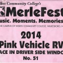 2014 Merlefest RV Parking Window Display